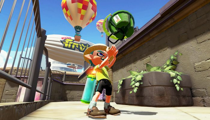 New weapon Tri-Slosher Nouveau available in Splatoon