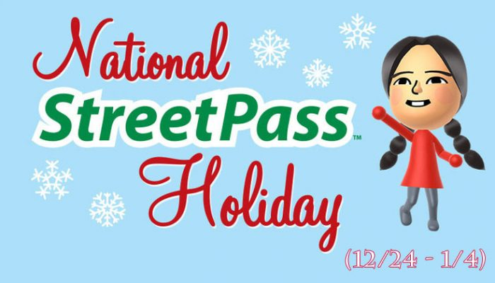 NoA: 'A gift for you: Holiday StreetPass Weekend from 12/24 – 1/4'
