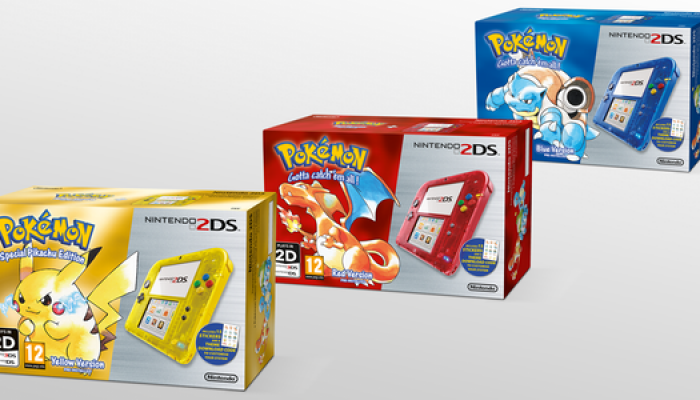 Pokémon Red, Blue & Yellow 2DS bundles coming to Europe on February 27