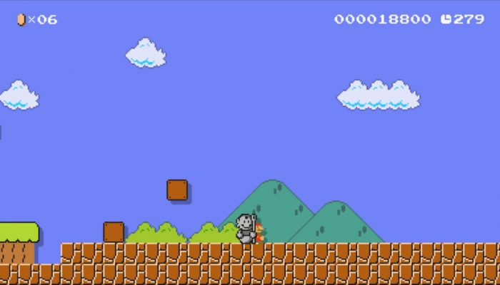 Super Mario Maker – Statue Mario Costume Footage