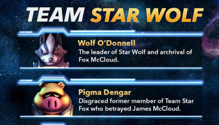 Details on Team Star Fox and Team Star Wolf from Nintendo of America