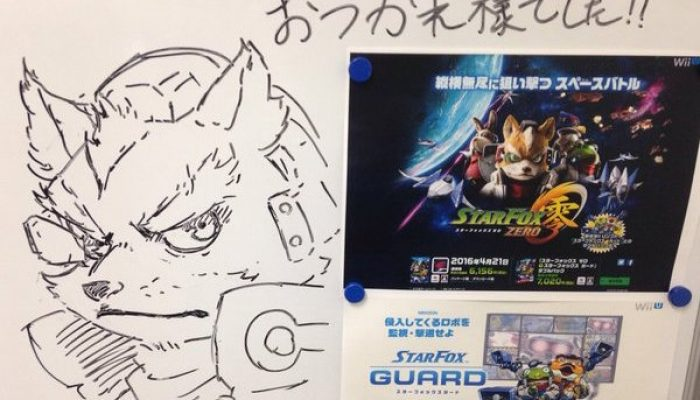 PlatinumGames doodles for Star Fox Zero