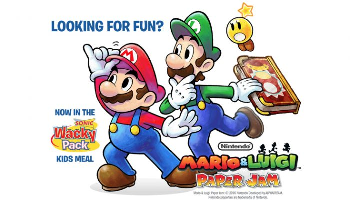 NoA: 'Nintendo partners with Sonic, America's drive-in to add some Mario & Luigi fun to kids meals'
