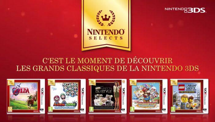 Nintendo 3DS – Davantage de jeux Nintendo Selects !