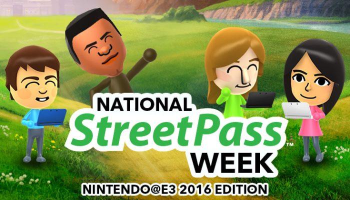 NoA: 'National StreetPass Week: Nintendo E3 2016 edition'