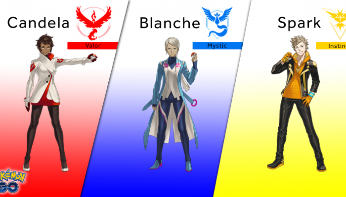 Candela, Blanche and Spark announced as Pokémon Go Team Leaders