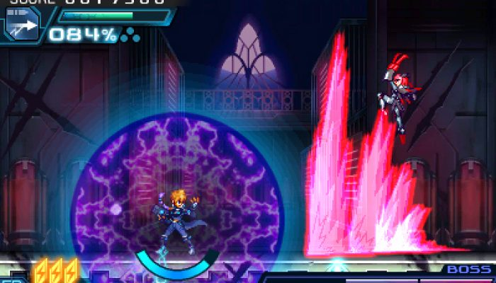 Azure Striker Gunvolt 2 – Japanese Asrock and Jibril Screenshots