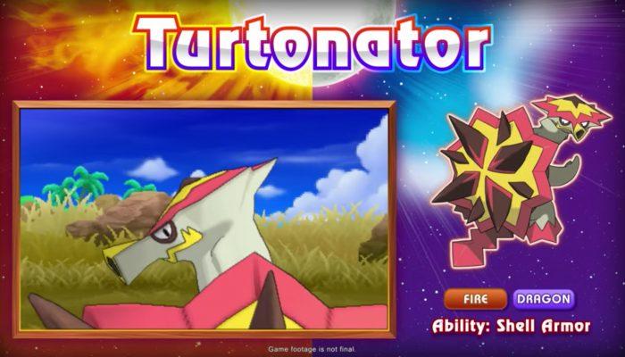 Pokémon Sun & Moon – Turtonator Reveal Trailer