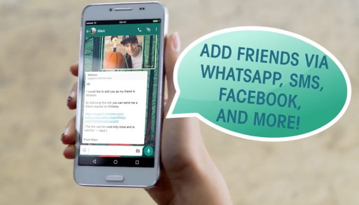 Miitomo – Add friends via WhatsApp, Facebook and more!