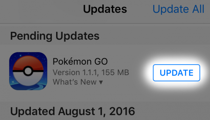 Niantic: 'Update for iOS users'