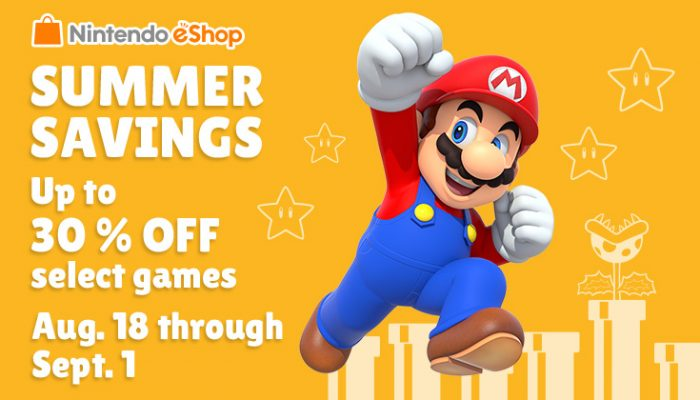 NoA: 'Summer savings: up to 30% off select games'