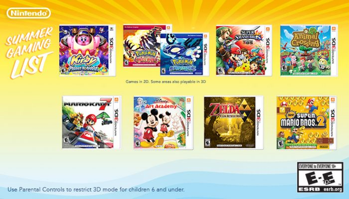 NoA: 'Have fun in the sun with Nintendo's Summer Gaming List'