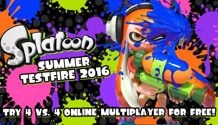 NoE: 'Join the ink-flinging fun for free with the Splatoon Summer Testfire 2016!'