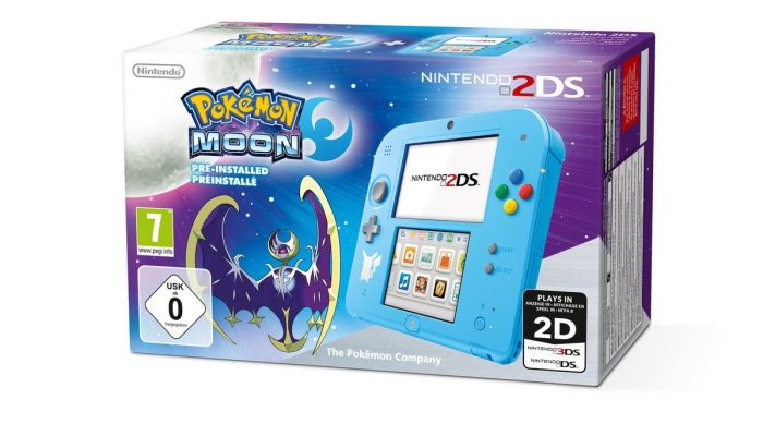 Pokémon Sun & Moon Nintendo 2DS bundles announced for Europe