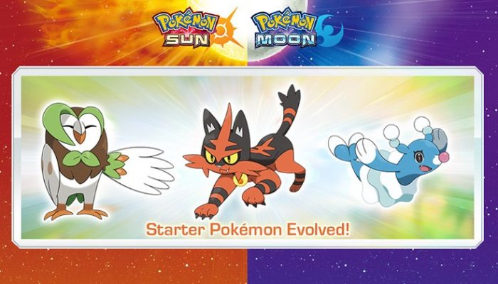 NoA: 'First-partner Pokémon evolutions, a special demo version and more announced for Pokémon Sun and Pokémon Moon!'