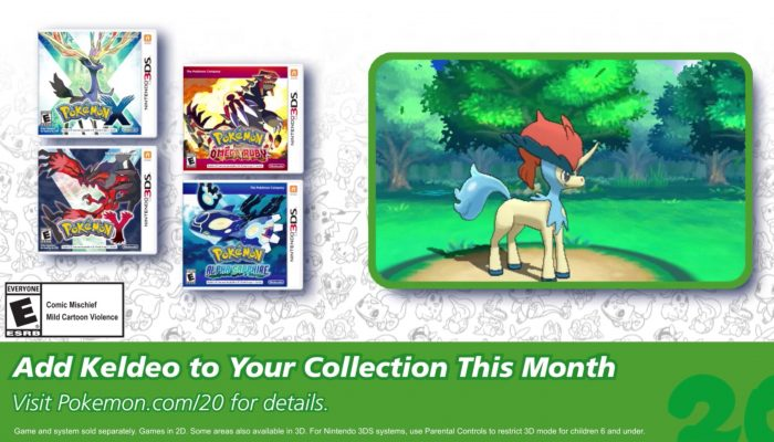 Pokémon XY and ORAS – Celebrate #Pokemon20 with the Mythical Pokémon Keldeo!