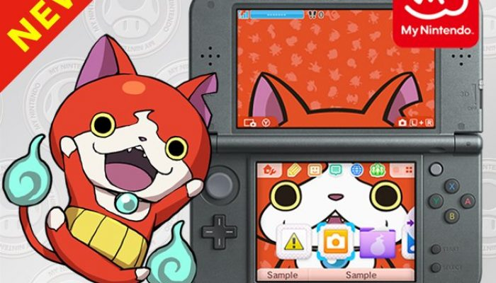 Jibanyan Nintendo 3DS Theme available on My Nintendo
