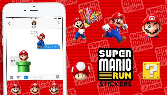Super Mario Run Stickers available on the App Store