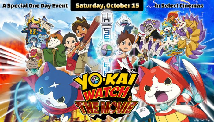 NoA: 'Yo-kai Watch: The Movie Event in theaters on October 15 only'