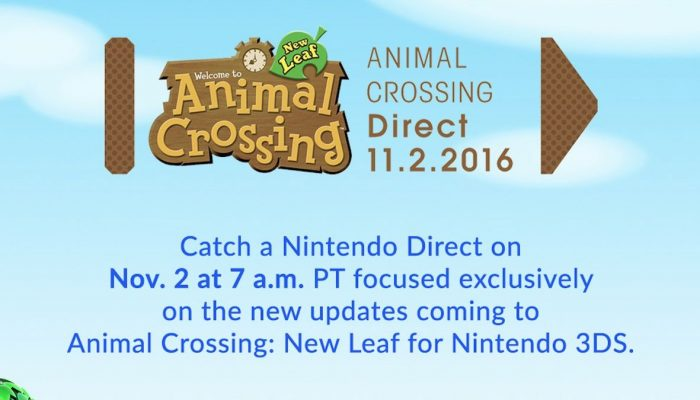 Animal Crossing Direct set for tomorrow November 2 at 7 AM Pacific