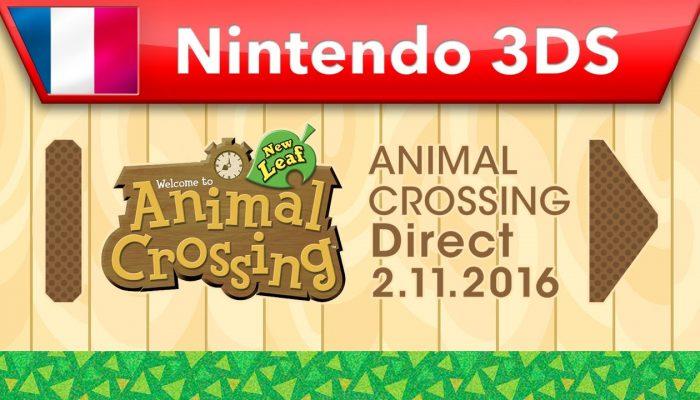 Nintendo France : 'Neuf choses inédites que vous devriez essayer avec la mise à jour gratuite d'Animal Crossing: New Leaf'