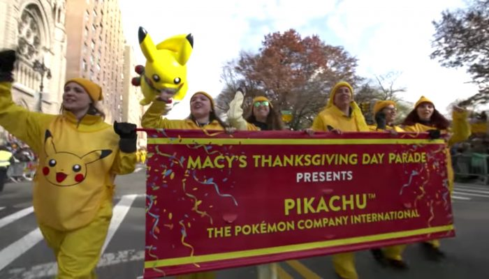 Celebrate #Pokemon20 with the Pikachu Balloon at the 2016 Macy's Thanksgiving Day Parade!