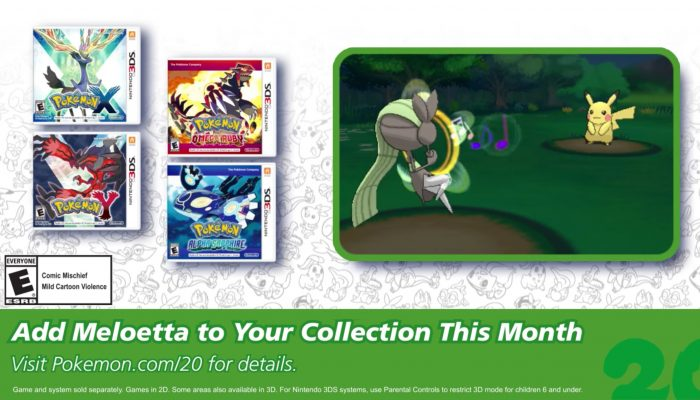 Pokémon XY and ORAS – Celebrate #Pokemon20 with the Mythical Pokémon Meloetta!