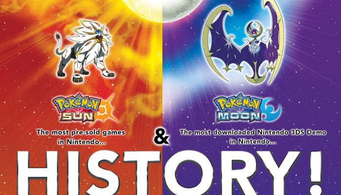 Pokémon Sun & Moon are the most pre-sold games and downloaded 3DS demos in Nintendo's history