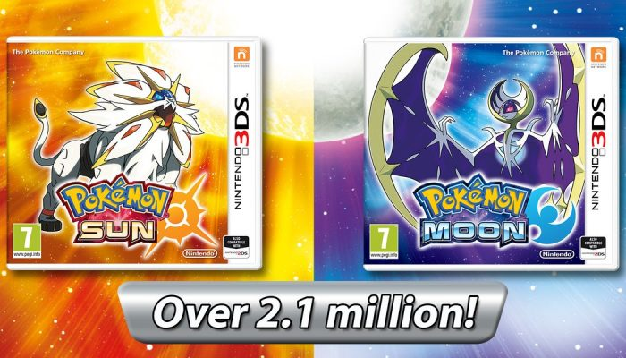 Pokémon Sun & Moon sold over 2.1 million units in their first twelve days in Europe