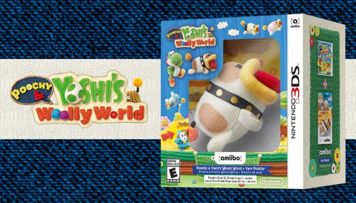 NoA: 'The Cute and Cuddly Poochy & Yoshi's Woolly World Launches for the Nintendo 3DS Family of Systems on Feb. 3'