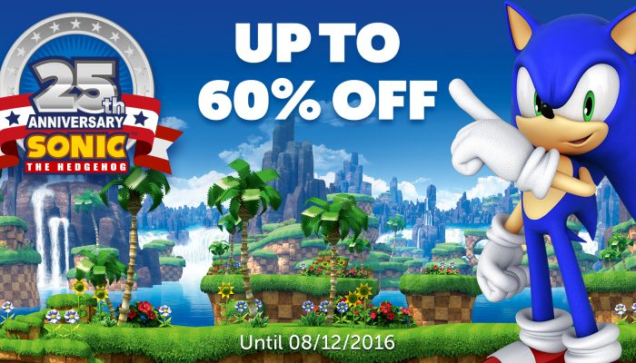 NoE: 'Nintendo eShop Sale: Sonic the Hedgehog 25th Anniversary Sale'