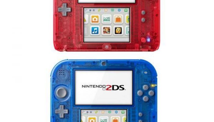 NoA: 'Nintendo Introduces Crystal Red And Crystal Blue Nintendo 2DS Systems'
