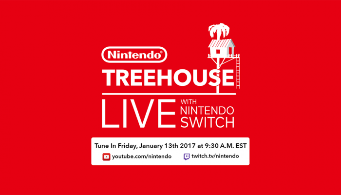 Nintendo Treehouse Live with Nintendo Switch announced for January 13, 9:30 AM EST
