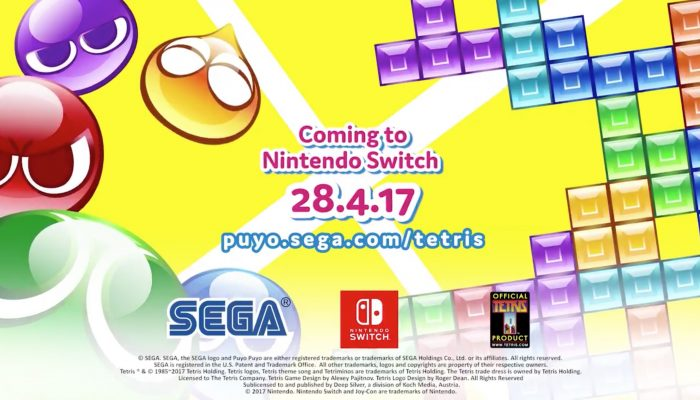 Puyo Puyo Tetris launches on April 28 in Europe