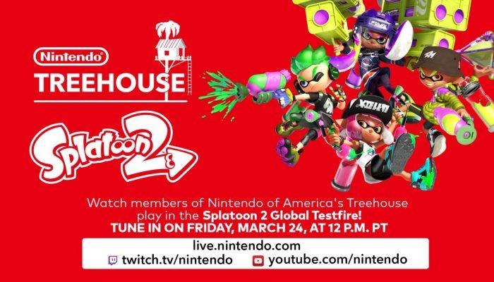 Nintendo Treehouse plays Splatoon 2 Global Testfire live on March 24