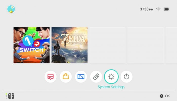 Nintendo Switch – Home Menu