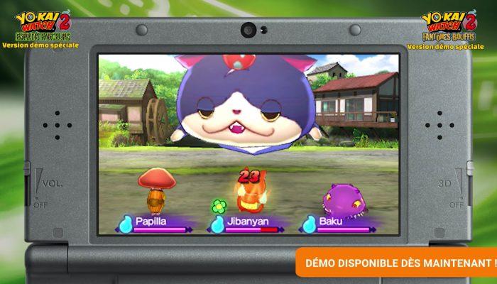Yo-kai Watch 2 : Esprits farceurs et Fantômes bouffis – Démo disponible !