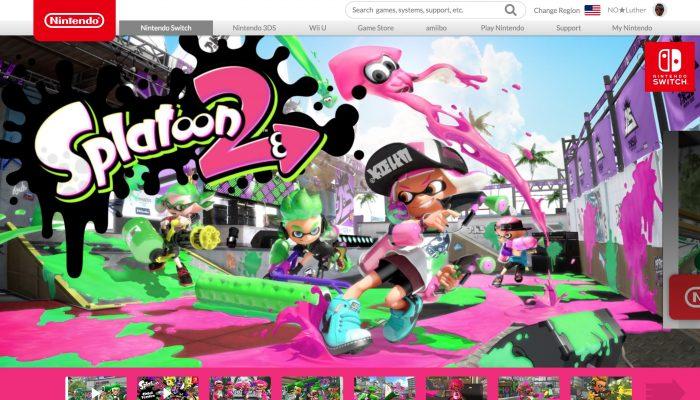 Splatoon's official website now updated to Splatoon 2