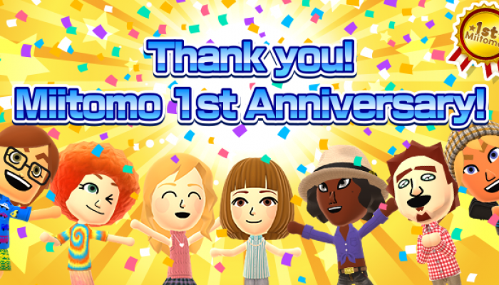 Miitomo celebrates its first-year anniversary