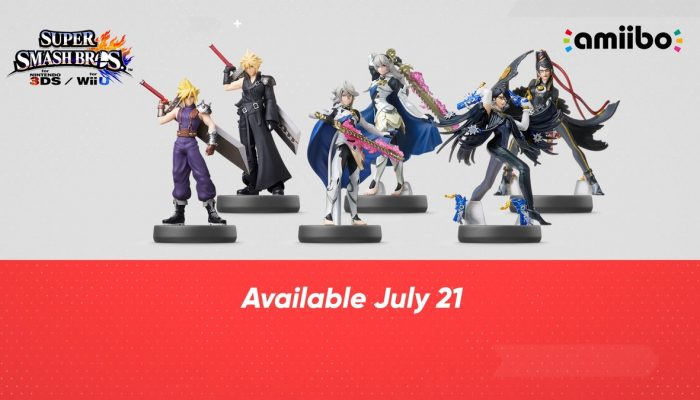 Cloud, Corrin and Bayonetta amiibo launching on July 21