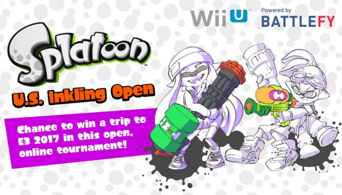 NoA: 'Show off your skills in the Splatoon U.S. Inkling Open Tournament for a chance to win a trip to E3 2017'