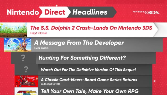 Nintendo 3DS Headlines – Nintendo Direct 4.12.2017