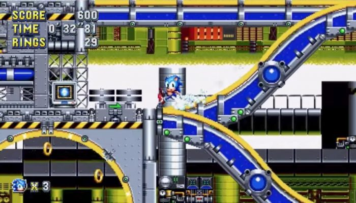 Sonic Mania – Japanese Chemical Plant Zone Acts 1 & 2 Gameplay