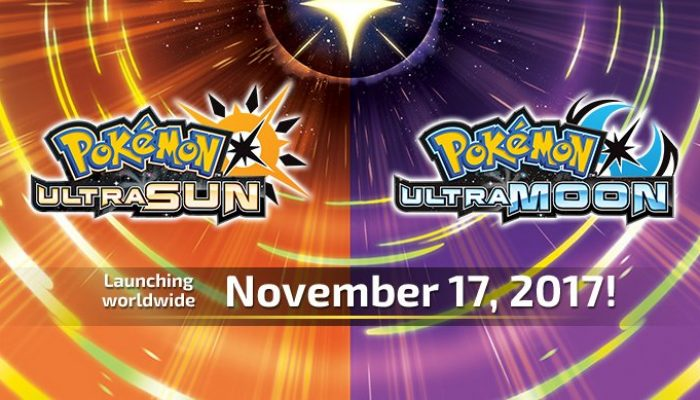 Pokémon Ultra Sun & Ultra Moon launch worldwide November 17 on Nintendo 3DS