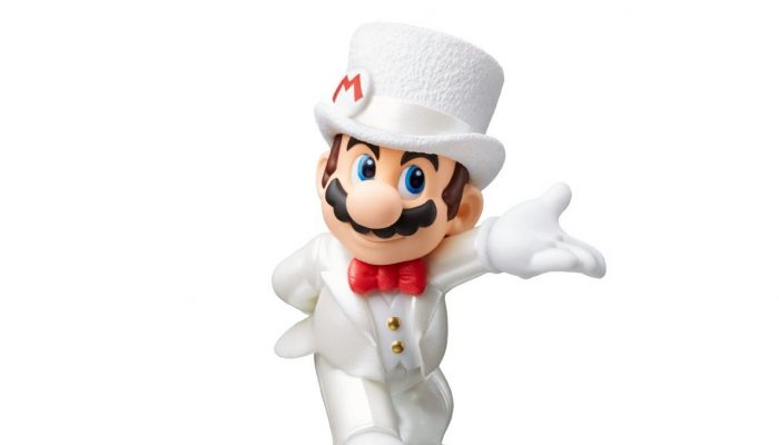 Mario, Peach and Bowser wedding outfits amiibos launching alongside Super Mario Odyssey