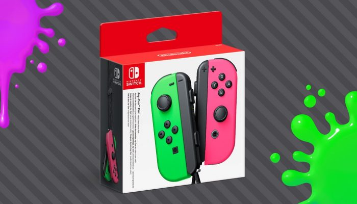 Splatoon 2-themed Joy-Cons hit stores July 28 in Europe
