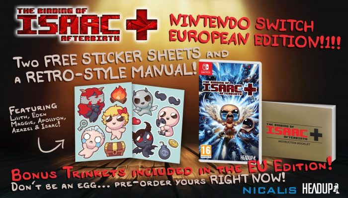 The Binding of Isaac Afterbirth+ launches September 7 in Europe