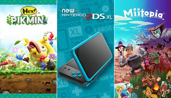 NoA: 'The New Nintendo 2DS XL system now available; plus, Miitopia and Hey! Pikmin are here'
