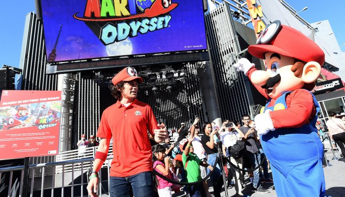 Photos of the Nintendo Mario's Odyssey Event at Universal CityWalk