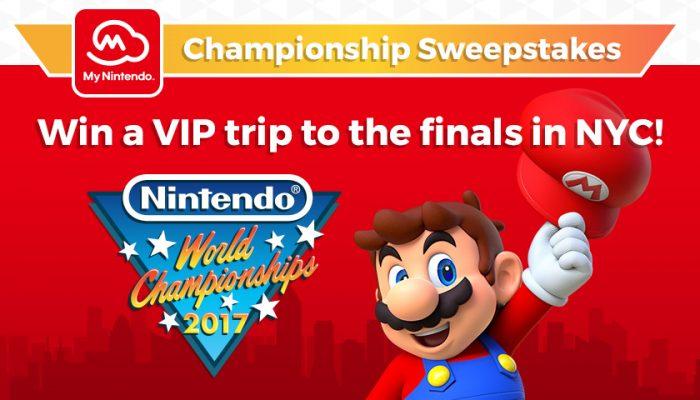 NoA: 'My Nintendo Championship Sweepstakes'
